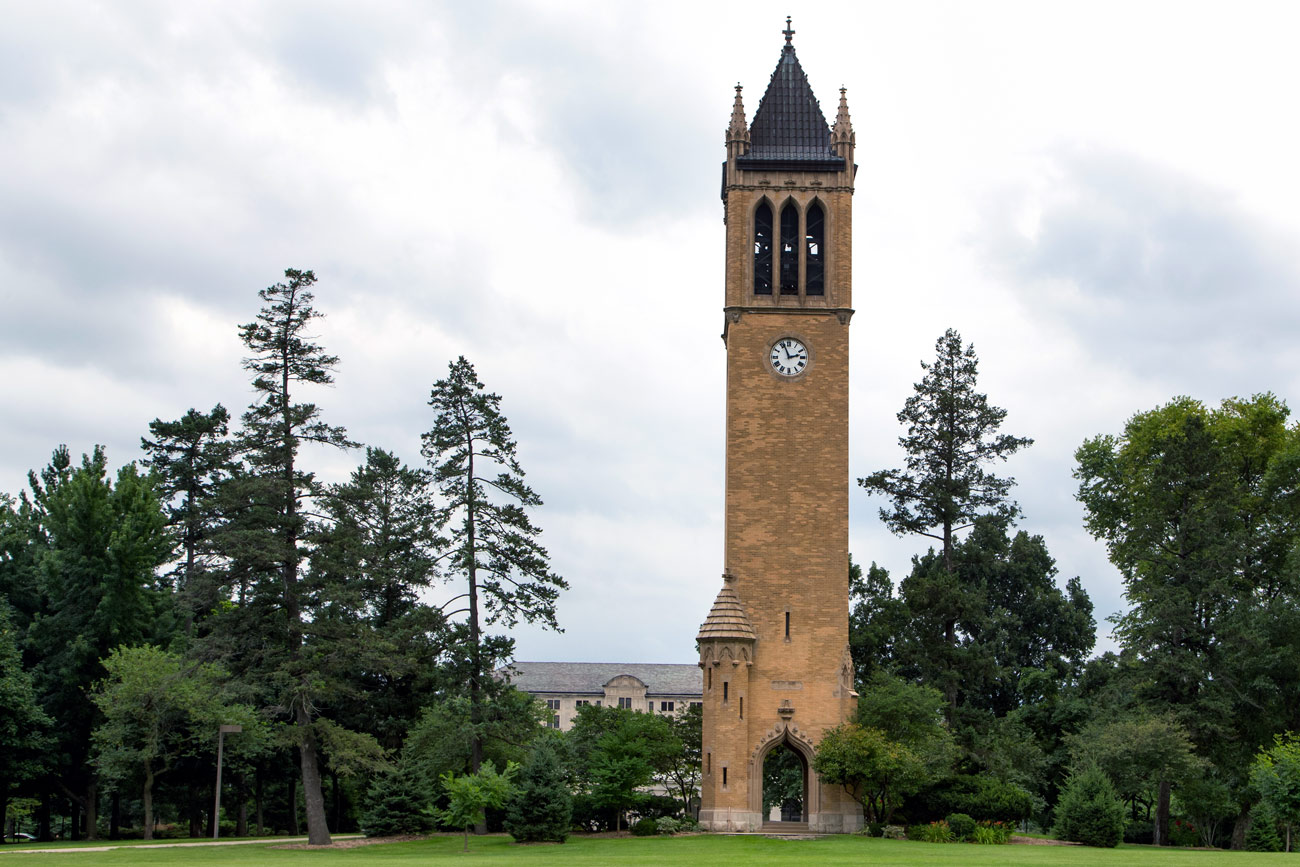 Iowa state camponile clock tower